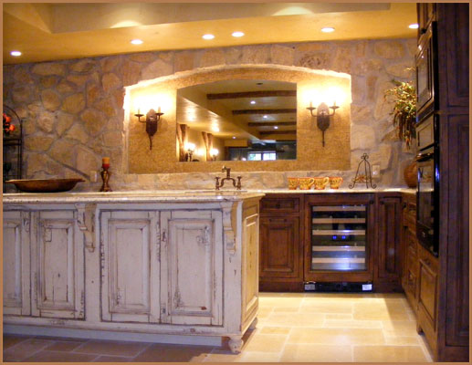 Kitchen Cabinet Specialty Finishes - Crackle, Splatter, Wormhole