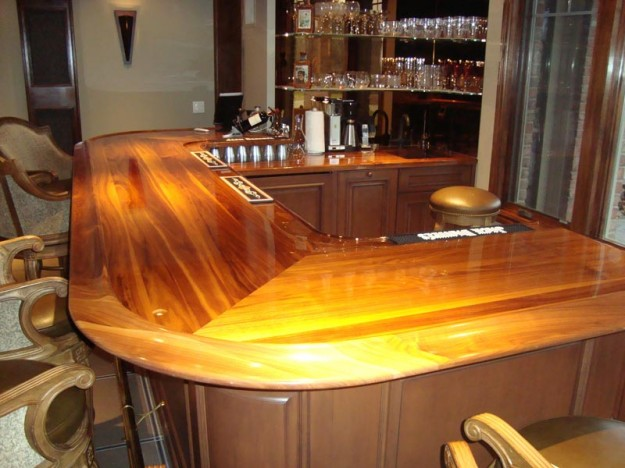 Bar Top Finishing : Ultra glossy bar cabinets by graber