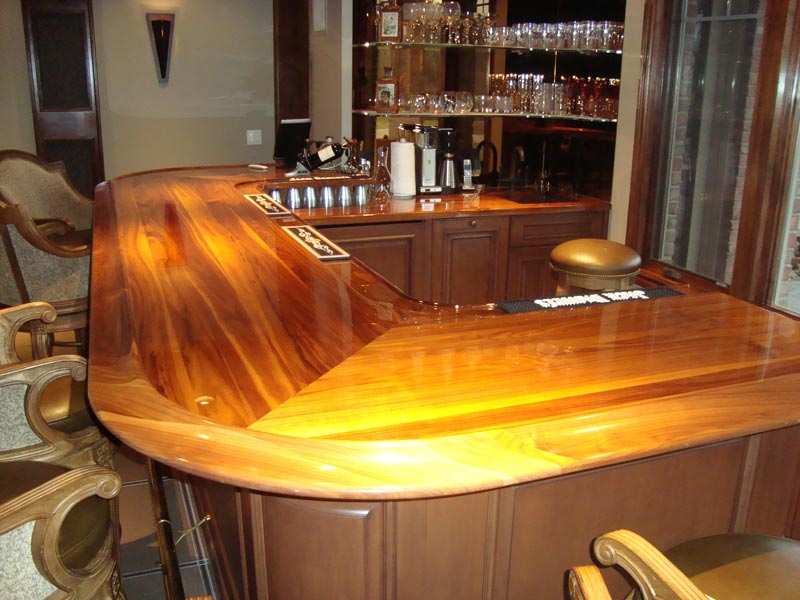 Ultra glossy bar cabinets by graber for Best bar top finish