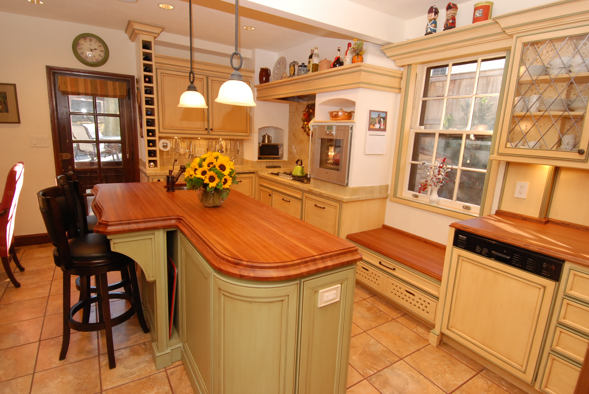 Caring for wooden countertops cabinets by graber - Advantages bamboo cabinetry ...