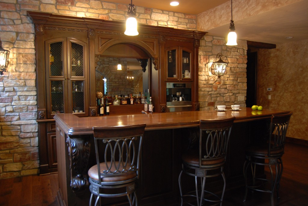 Custom Home Bar - Cabinets by Graber