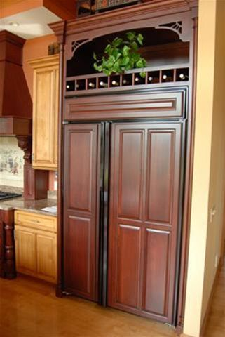 refrigerator panel enclosure - Cabinets by Graber