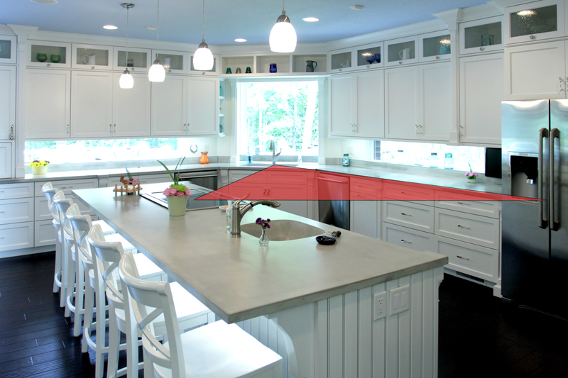 Kitchen Work Triangle - Cabinets by Graber