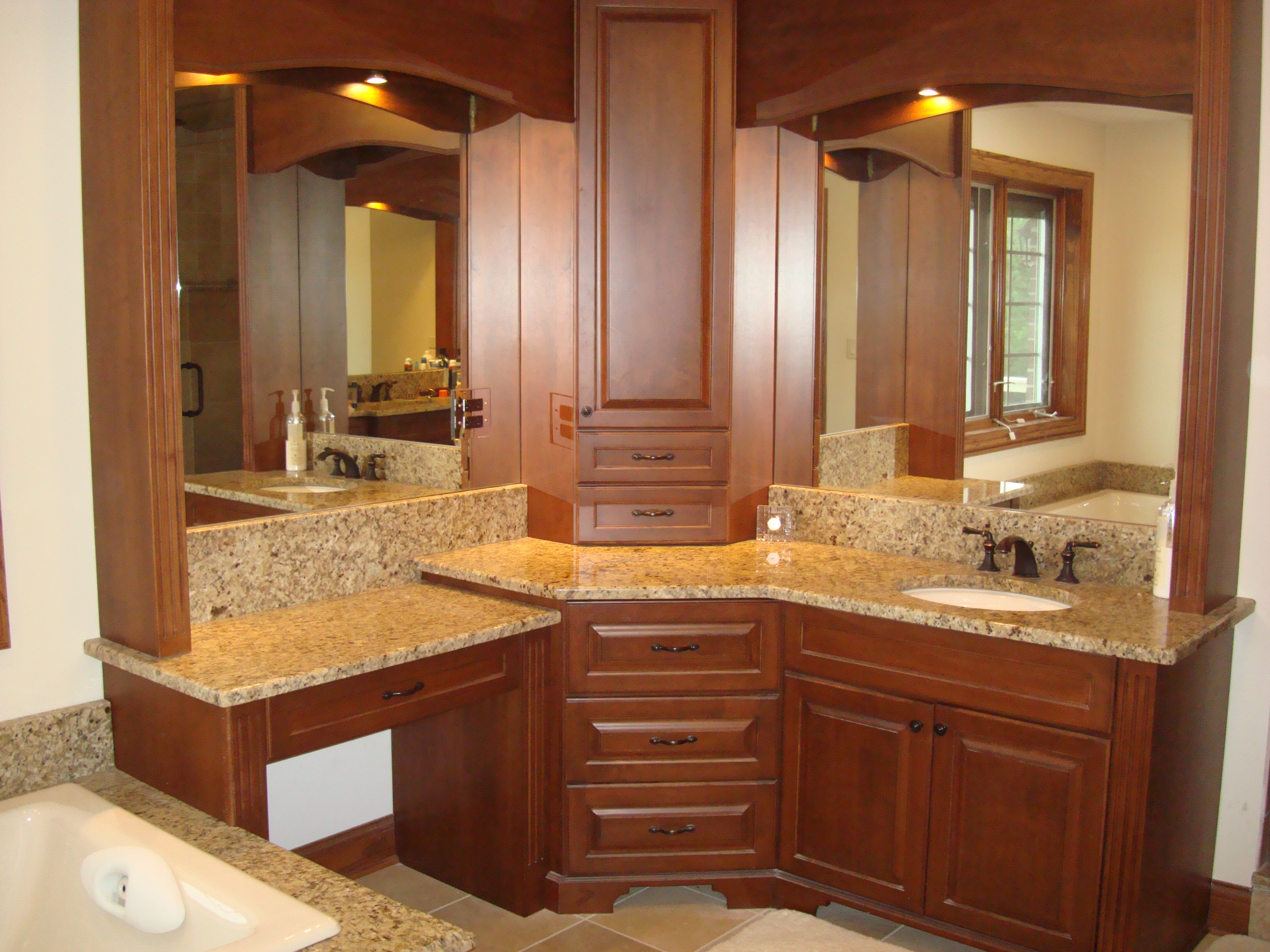 Traditional Chestnut Bathroom Cabinets By Graber