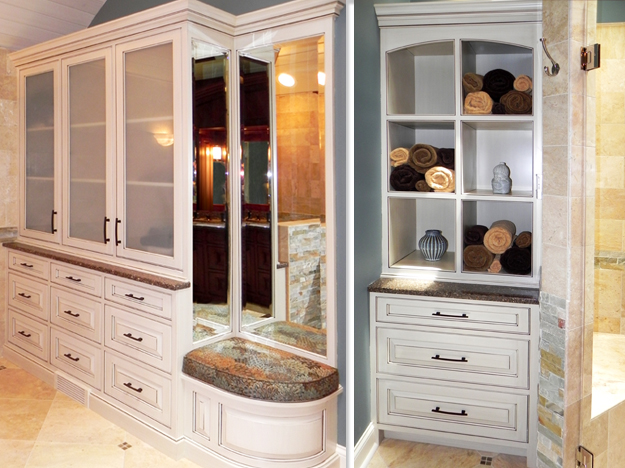 Rich & Masculine Bathroom - Cabinets by Graber